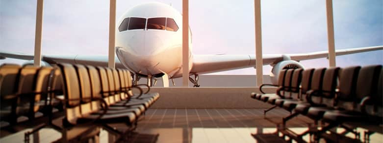 Flygplan på flygplats